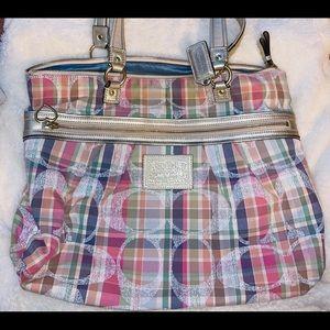 Coach Poppy Madras Pastel Multicolor Handbag